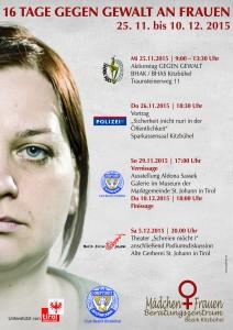 16 Tage gegen Gewalt an Frauen im Jahr 2015